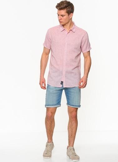 Kısa Kollu Gömlek-Mavi